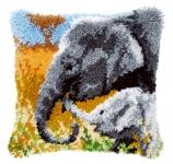 Vervaco PN-0146813 Kreuzstichkissen Elefanten Familie