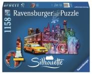 Ravensburger 16153 Skyline New York 1158 Teile Puzzle Silhouette