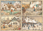 Jumbo 17093 Anton Pieck - Jahreszeiten - 1000 Teile Puzzle