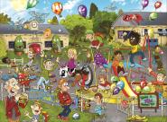 Jumbo 19126 Wasgij Junior Monsterfest 100 Teile Puzzle