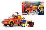 SIMBA 109251054 Feuerwehrmann Sam Sams Feuerwehrauto Venus mit Figur