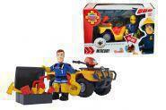 SIMBA 109251058 Feuerwehrmann Sam Sams Mercury-Quad mit Figur