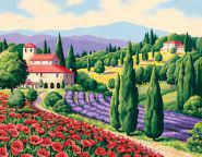 Tuscan Scene Malen nach Zahlen