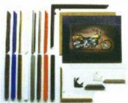 Bilderrahmen 40 x 50 cm Rahmen f�r Schipper Bilder und andere... Wei�-Natur