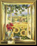 Schipper 609130405 Sonnenblumenfelder Malen nach Zahlen