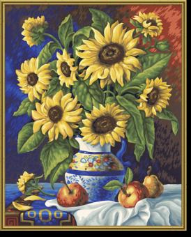 Schipper 609130308 Malen nach Zahlen Stillleben mit Sonnenblumen