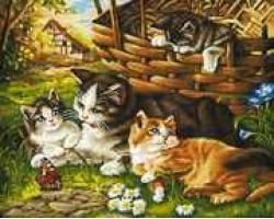 Schipper 609130361 Malen nach Zahlen Katzenfamilie