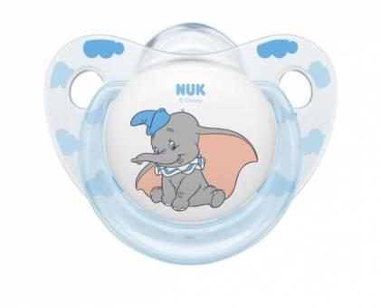 NUK 10177115 Disney Classics Trendline Silikon-Schnuller Dumbo, kiefergerechte Form, 18-36m Monate, 2 Stück
