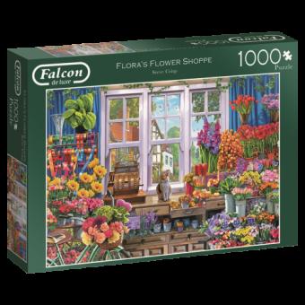 Falcon 11196 Floras Flower Shoppe 1000 Teile Puzzle