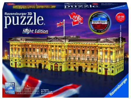 Ravensburger 12529 Buckingham Palace bei Nacht 216 Teile 3D Puzzle