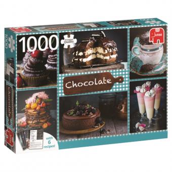 JUMBO 18593 Schokolade mit 6 Rezepten 1000 Teile Puzzle