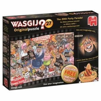 Jumbo 19152 Wasgij 20 Jahre Jubiläumsparade 1000 Teile + gratis 1000 Teile Puzzle