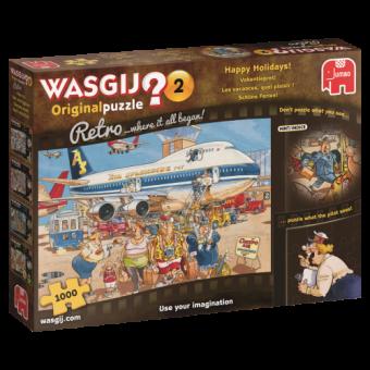 Jumbo 19153 Wasgij Retro Schöne Ferien,1000 Teile Puzzle