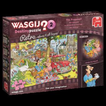Jumbo 19155 Wasgij Retro Der Antrag,1000 Teile Puzzle
