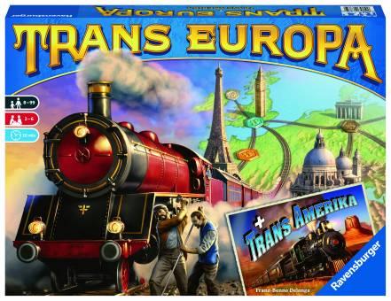 Ravensburger 26785 Trans Europa + Trans Amerika,Brettspiel