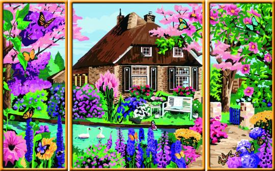 Ravensburger 28982 Malen nach Zahlen Zauberhaftes Cottage