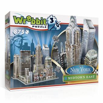 Wrebbit 34513 New York Collection Midtown East 875 Teile 3D Puzzle