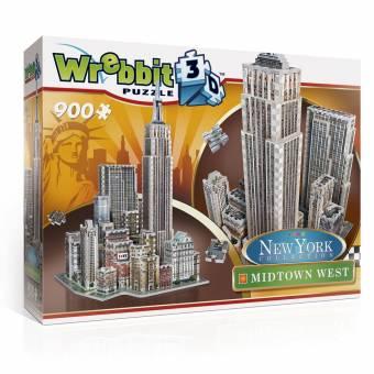 Wrebbit 34514 New York Collection Midtown West 900 Teile 3D Puzzle