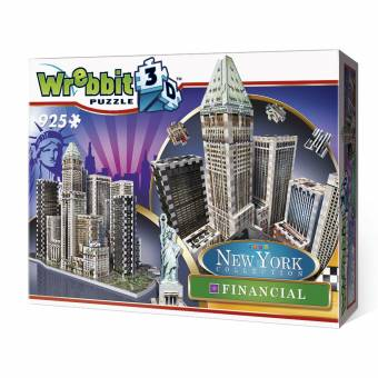 Wrebbit 34515 New York Collection Financial 925 Teile 3D Puzzle