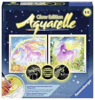 Ravensburger 29441 Aquarelle Glow Edition Traumhafte Einhörner