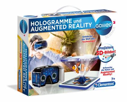 Clementoni 59033 Galileo Hologramme und Aufmented Reality,Experimentierset