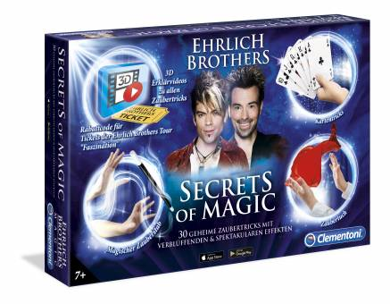 Clementoni 59048 Secrets of Magic,Zauberkasten