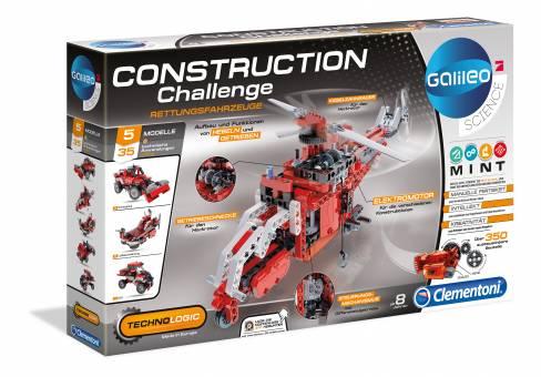 Clementoni 59052 Galileo Construction Challenge Rettungsfahrzeuge,Baukasten