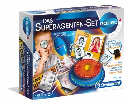 Clementoni 59059 Galileo Das Superagenten-Set,Experimentierkasten