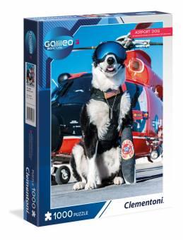 Clementoni 59087 Galileo Airport Dog 1000 Teile Puzzle