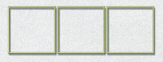 schipper aluminiumrahmen triptychon 120 x 40 cm bilderrahmen und pinsel f r. Black Bedroom Furniture Sets. Home Design Ideas