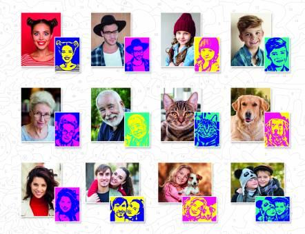 Schipper 602140803 Malen nach Zahlen Male deinen Liebling Pop Art