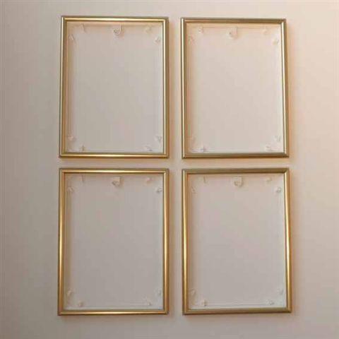 Quattro Rahmen 4 Stück Bilderrahmen 18 X 24 Cm Rahmen Für Zb Schipper Malen Nach Zahlen Bilder