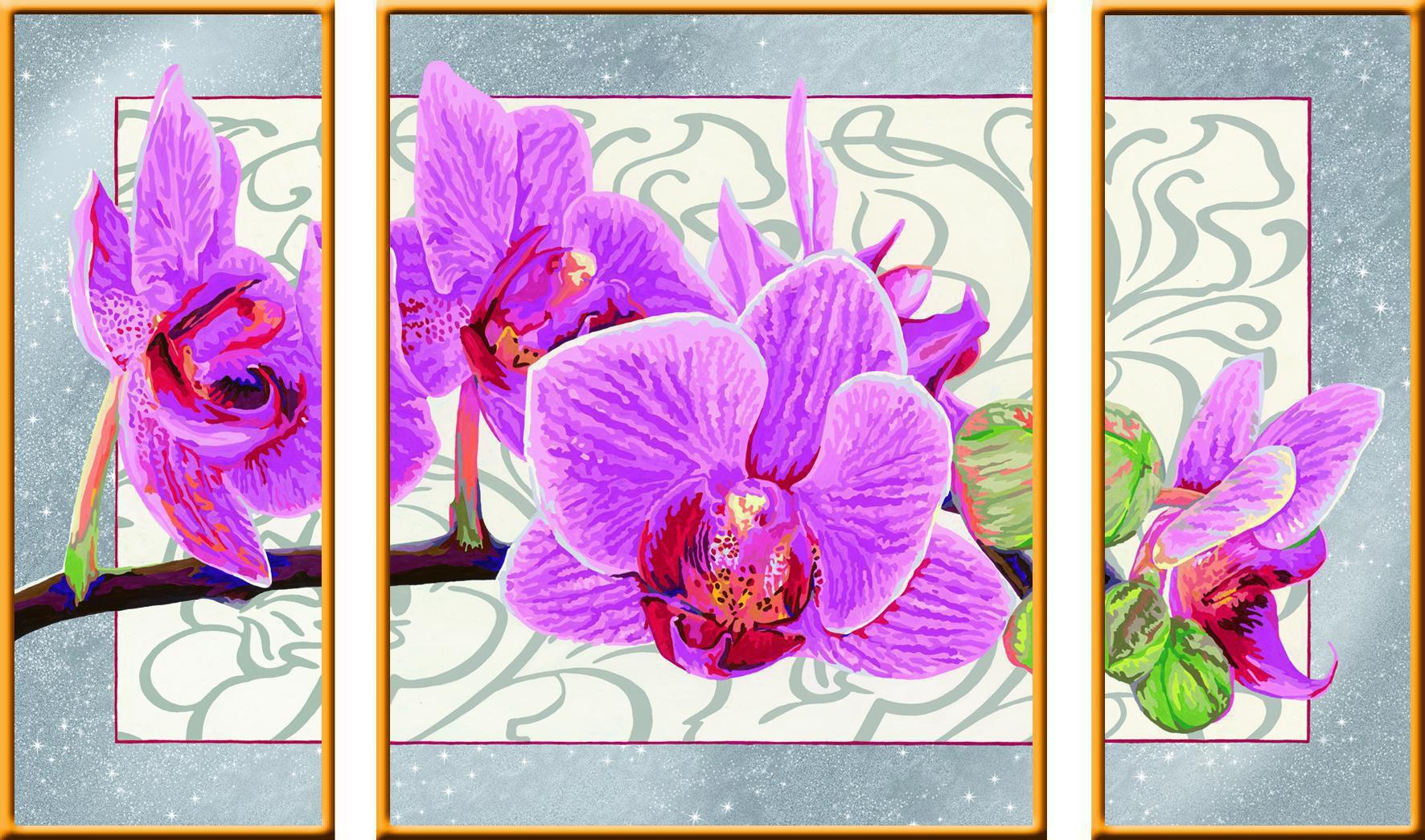 ravensburger malen nach zahlen wilde orchidee ravensburger hobbyshop. Black Bedroom Furniture Sets. Home Design Ideas