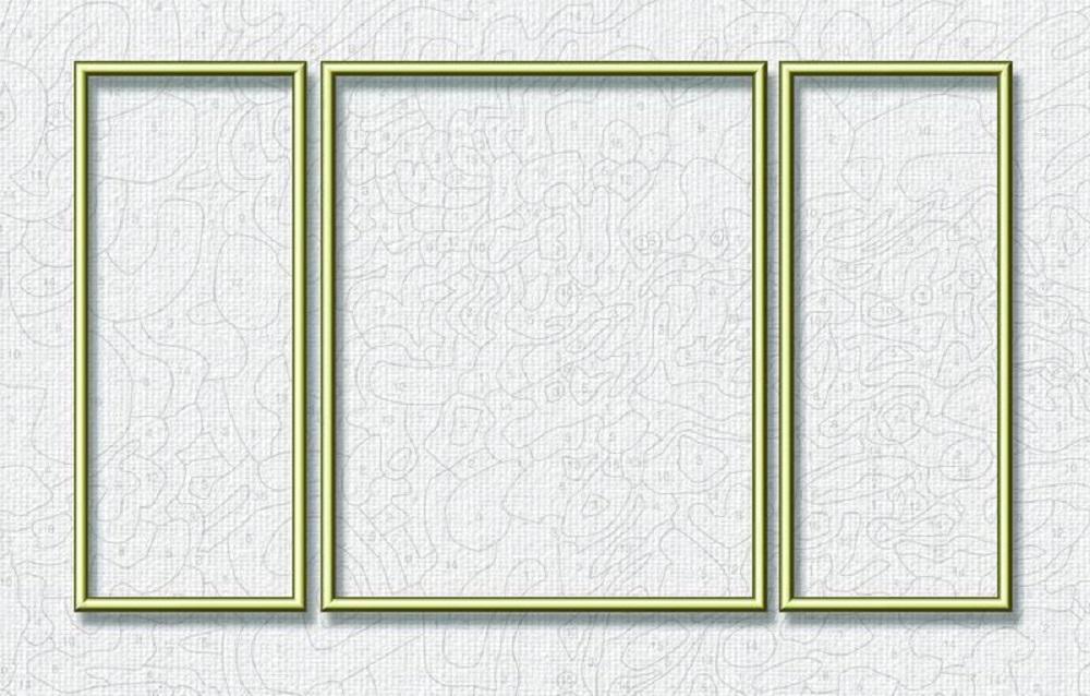 schipper aluminiumrahmen triptychon 50 x 80 cm bilderrahmen und pinsel f r. Black Bedroom Furniture Sets. Home Design Ideas