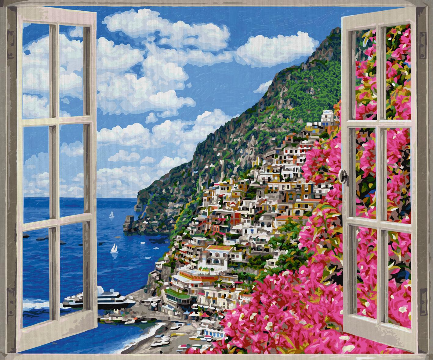 Schipper 609360724 Positano An Der Amalfiküste Malen Nach Zahlen