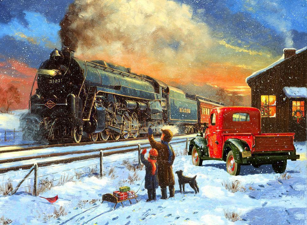 Spanische Weihnachtsbilder.Malen Nach Zahlen Pal40 Zug